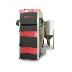 Kombinovaný kotel PREDATOR 20kW - peletový hořák - dřevěné pelety
